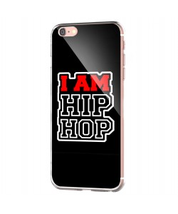 I am Hip Hop - iPhone 6 Carcasa Transparenta Silicon