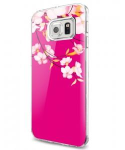 Cherry Blossom - Samsung Galaxy S7 Edge Carcasa Silicon