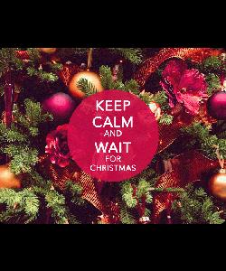 Keep Calm and Wait for Christmas - Samsung Galaxy S4 Carcasa Transparenta Silicon