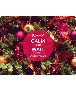 Keep Calm and Wait for Christmas - iPhone 6 Plus Skin