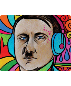 Hitler Meets Colors - Huawei P10 / P10 Lite / P10 Plus Carcasa Transparenta Silicon