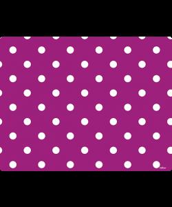 Purple White Dots - Samsung Galaxy S4 Carcasa Transparenta Silicon