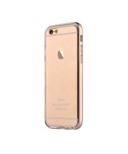Devia Fresh Champagne Gold - iPhone 6/6S Carcasa Silicon (cu bumper aluminiu)