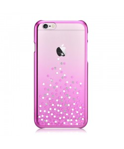 Unique Polka Rose Pink - Comma Carcasa iPhone 6 Plus (cristale si rama electroplacata)