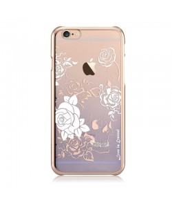 Crystal Charm Blue - Devia Carcasa iPhone 6/6S (cristale si rama electroplacata)