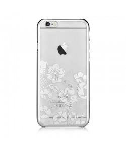 Crystal Rococo Silver - Devia Carcasa iPhone 6/6S (cristale si rama electroplacata)