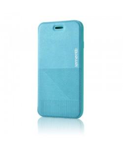 Lemontti Jelly Linea - iPhone 6/6S Husa Book Albastra Piele Eco