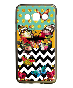 Butterfly Contrast - Samsung Galaxy A3 Carcasa Silicon Premium