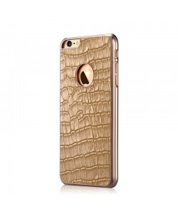 Gallery Champagne Gold - Devia iPhone 6/6S Carcasa Piele Naturala