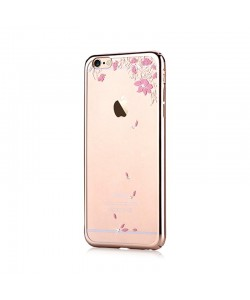 Crystal Vivid Champagne Gold - Devia Carcasa iPhone 6/6S (electroplacat, protectie 360°)