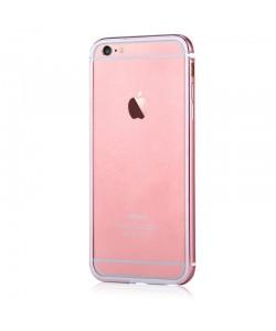 Devia Mighty Rose Gold - iPhone 6/6S Bumper (Aluminiu + Silicon, protectie 360°)
