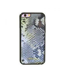 Occa Snake Yellow - iPhone 6 / 6S Carcasa Piele Naturala (protectie margine 360°)