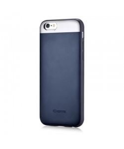 Vivid Leather Blue - Comma iPhone 6 Plus (piele naturala, aluminiu si margini flexibile)