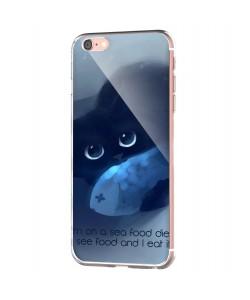 Sea Food - iPhone 6 Carcasa Transparenta Silicon