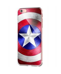 Captain America Logo - iPhone 6 Carcasa Transparenta Silicon