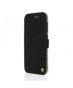 Just Must Book Slim - HTC One A9 Husa Book Neagra (silicon in interior)