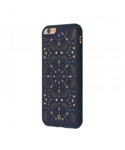 Occa Mandala Navy - iPhone 6/6S Carcasa Piele naturala