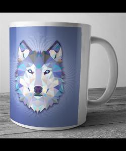 Cana personalizata - Origami Wolf