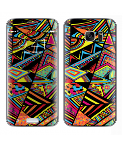 Patchy Stripes - Samsung Galaxy S7 Edge Skin
