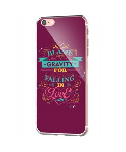 Falling in Love - iPhone 6 Carcasa Transparenta Silicon