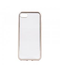 Glitter Soft Champagne Gold - Devia iPhone 7 / iPhone 8 Carcasa Silicon (margini electroplacate)