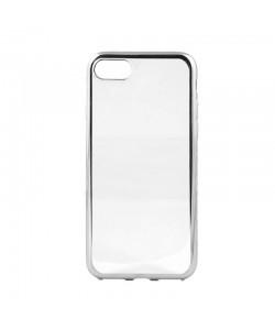 Glitter Soft Silver - Devia iPhone 7 / iPhone 8 Carcasa Silicon (margini electroplacate)