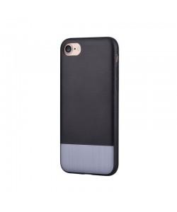 Devia Commander Black - iPhone 7 / iPhone 8 Carcasa (protectie 360°, margini flexibile)