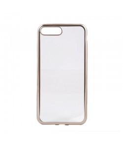 Glitter Soft Champagne Gold - Devia iPhone 7 Plus / iPhone 8 Plus Carcasa Silicon (margini electroplacate)
