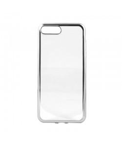 Glitter Soft Silver - Devia iPhone 7 Plus / iPhone 8 Plus Carcasa Silicon (margini electroplacate)