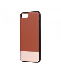 Devia Commander Brown - iPhone 7 Plus / iPhone 8 Plus Carcasa (protectie 360°, margini flexibile)