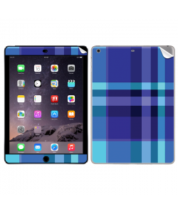 Blue Plaid - Apple iPad Air 2 Skin