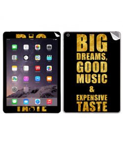 Good Music Black - Apple iPad Air 2 Skin