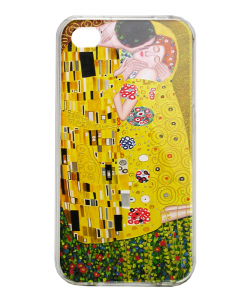 Gustav Klimt - The Kiss - iPhone 4/4S Carcasa Alba/Transparenta Plastic