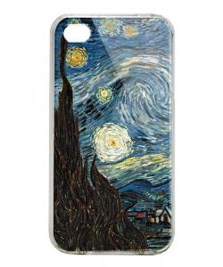 Van Gogh - Starry Night - iPhone 4/4S Carcasa Alba/Transparenta Plastic