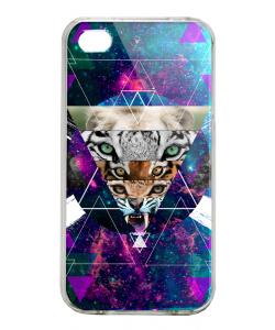 Tiger Swag - iPhone 4/4S Carcasa Alba/Transparenta Plastic