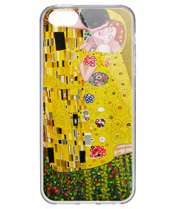Gustav Klimt - The Kiss - iPhone 5/5S/SE Carcasa Transparenta Silicon