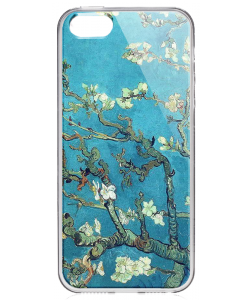 Van Gogh - Branches with Almond Blossom - iPhone 5/5S/SE Carcasa Transparenta Silicon