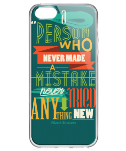 Anything New - iPhone 5/5S/SE Carcasa Transparenta Silicon