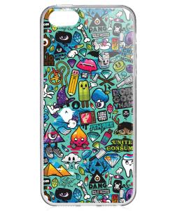 Urban Chaos - iPhone 5/5S/SE Carcasa Transparenta Silicon