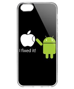 I fixed it - iPhone 5/5S/SE Carcasa Transparenta Silicon