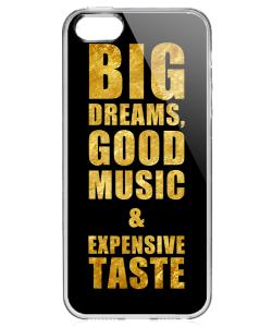 Good Music Black - iPhone 5/5S Carcasa Transparenta Silicon