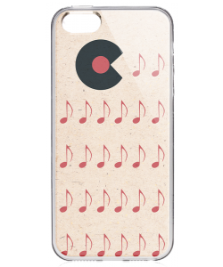 Hungry Vinyls - iPhone 5/5S Carcasa Transparenta Silicon