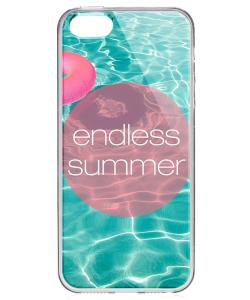 Endless Summer - iPhone 5/5S Carcasa Transparenta Silicon