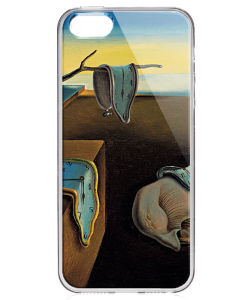 Salvador Dali - The Persistence of Memory - iPhone 5/5S Carcasa Transparenta Silicon