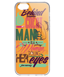 Every Great Man - iPhone 5/5S Carcasa Transparenta Silicon