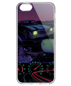 Night Ride - iPhone 5/5S/SE Carcasa Transparenta Silicon