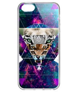 Tiger Swag - iPhone 5/5S Carcasa Transparenta Plastic