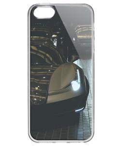 Ferrari 3 - iPhone 5/5S/SE Carcasa Transparenta Silicon