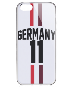 Germany Jersey - iPhone 5/5S/SE Carcasa Transparenta Silicon