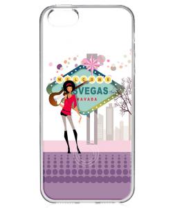 Vegas Music - iPhone 5/5S/SE Carcasa Transparenta Silicon